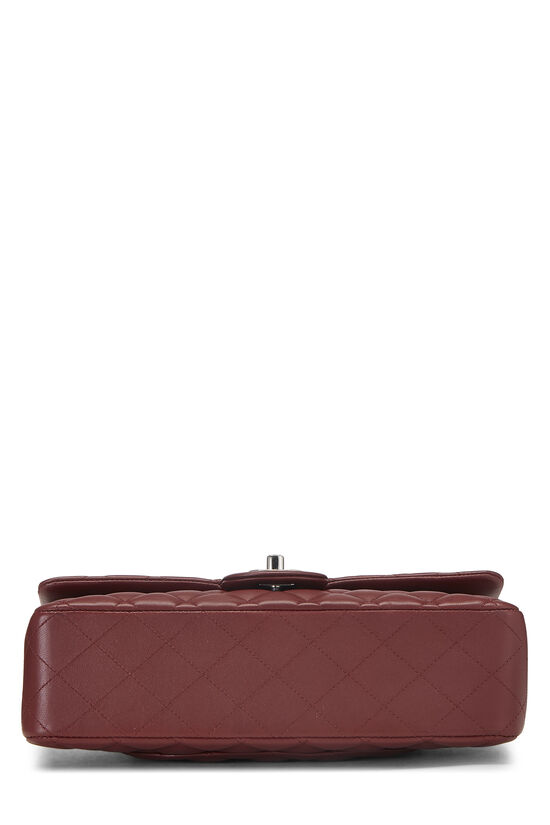 Burgundy Quilted Lambskin Classic Double Flap Medium, , large image number 4