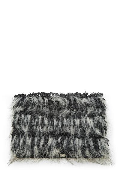 Black & Grey Fantasy Fur Snood