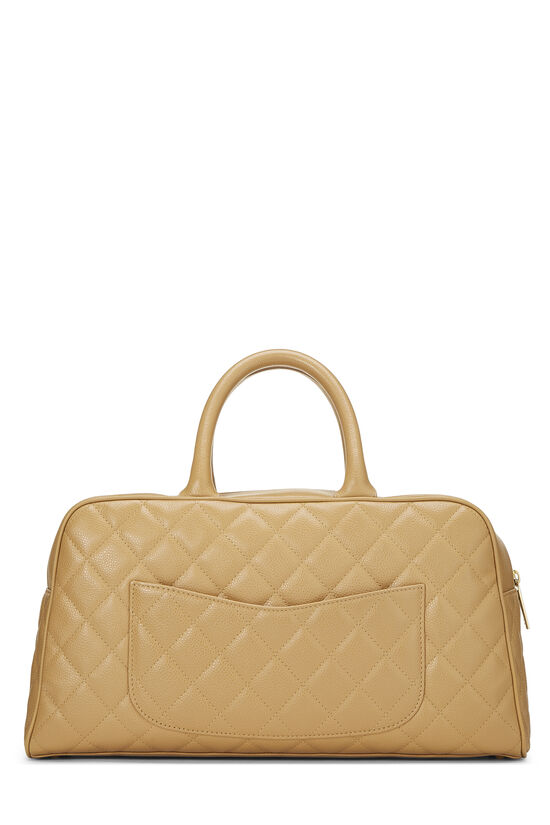Beige Quilted Caviar Bowler Small, , large image number 3