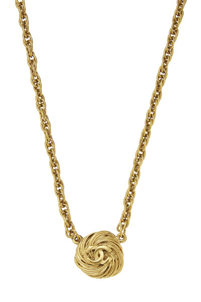 Gold Engraved 'CC' Choker, , large