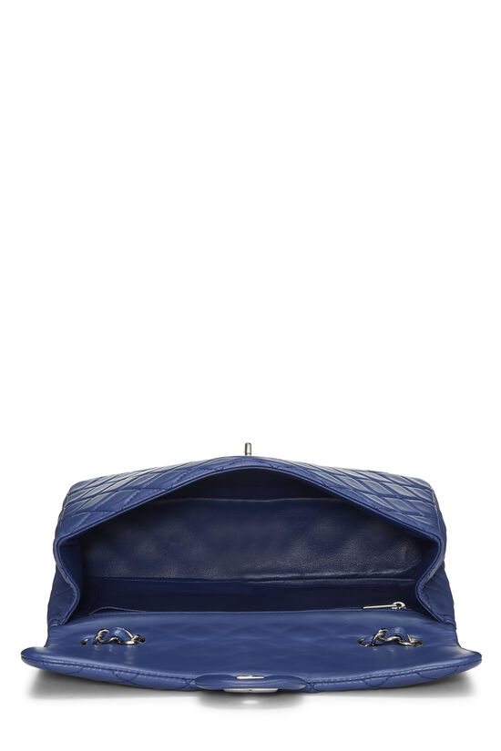 Blue Quilted Lambskin Classic Flap Jumbo, , large image number 5