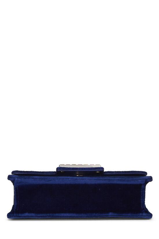 Blue Velour Broadway Crossbody Mini, , large image number 4