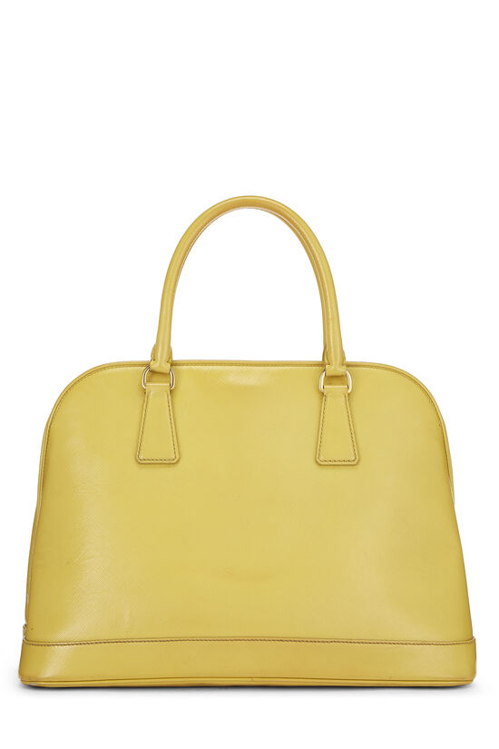 Yellow Vernice Saffiano Dome Tote, , large image number 3