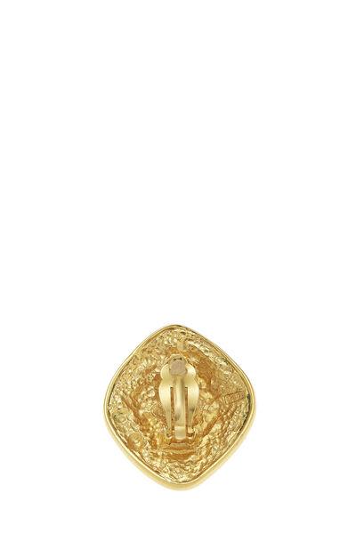 Gold Filigree 'CC' Earrings Large, , large