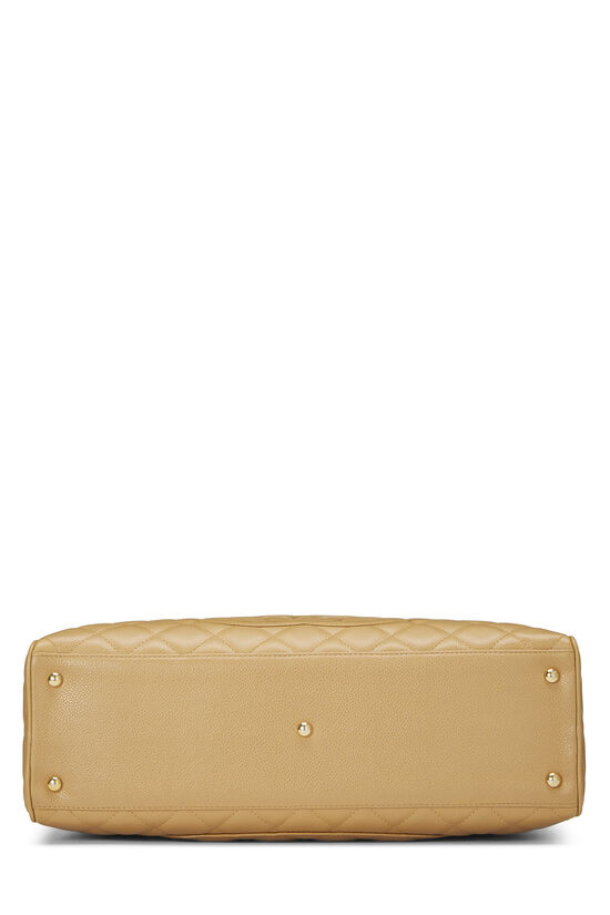 Beige Quilted Caviar Bowler Small, , large image number 4