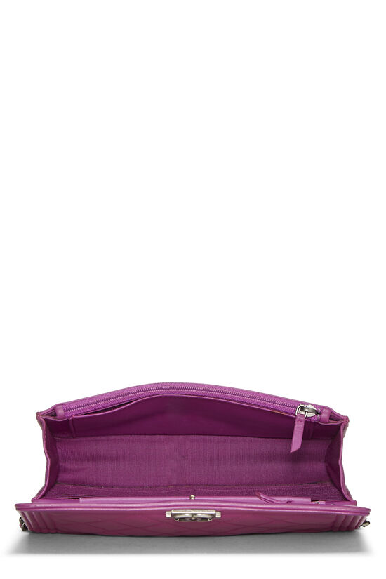 Purple Quilted Lambskin Boy Wallet on Chain (WOC), , large image number 5