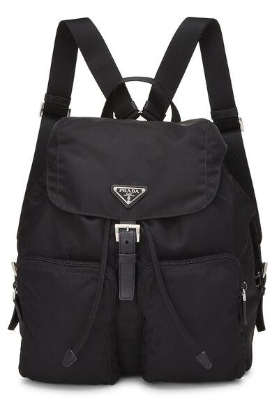 Black Tessuto Nylon Backpack Small