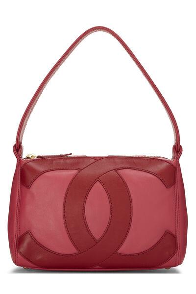 Pink Lambskin 'CC' Shoulder Bag
