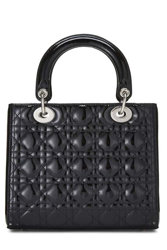 Black Cannage Quilted Patent Leather Lady Dior Medium, , large image number 4