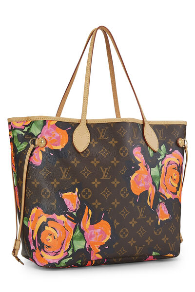 Stephen Sprouse x Louis Vuitton Monogram Canvas Roses Neverfull MM, , large