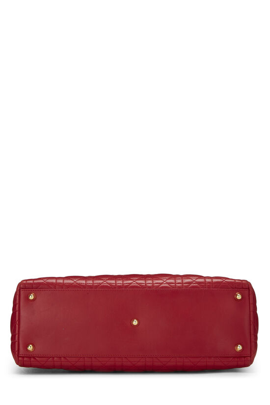 Red Cannage Quilted Lambskin Lady Dior Large, , large image number 5