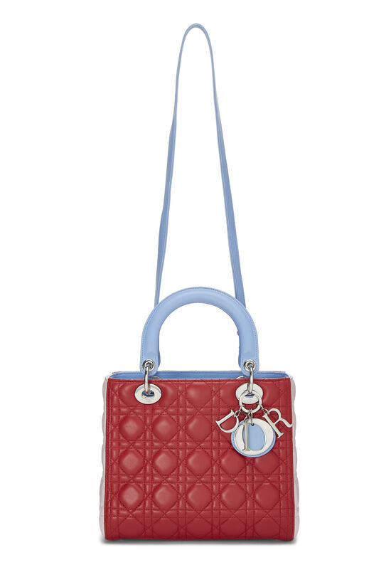 Multicolor Cannage Quilted Lambskin Lady Dior Medium, , large image number 6