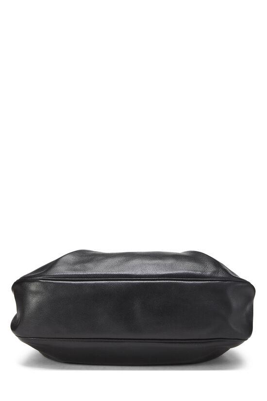 Black Leather Shoulder Bag Medium, , large image number 4