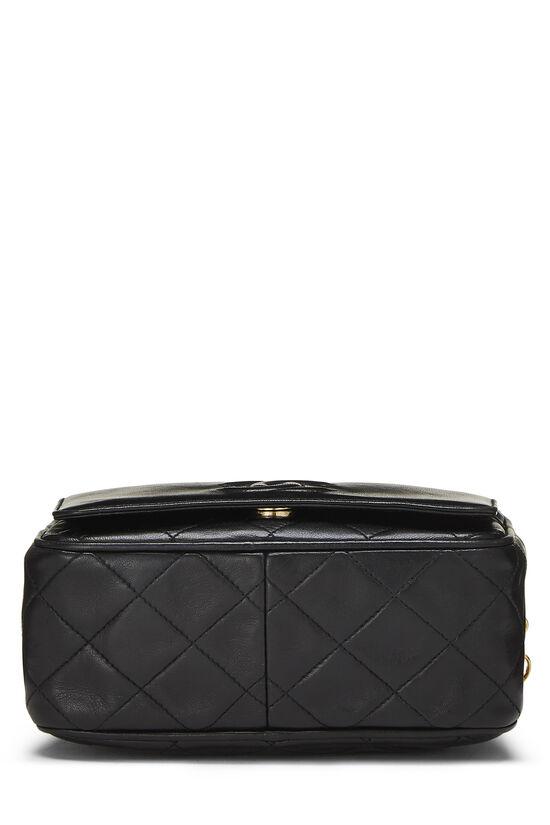 Black Quilted Lambskin Pocket Camera Bag Mini, , large image number 4