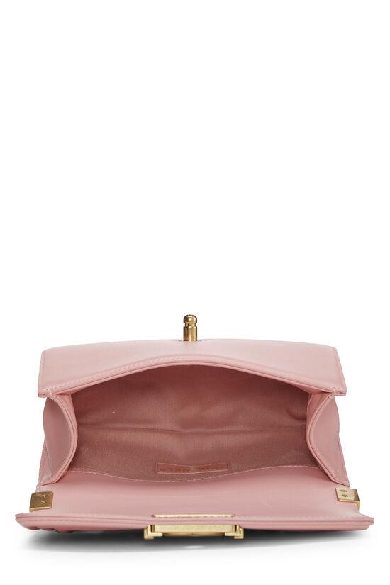 Pink Chevron Lambskin Boy Bag Small, , large image number 6