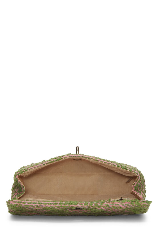 Pink & Green Tweed Classic Flap Medium, , large image number 5