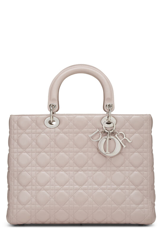 Pink Cannage Quilted Lambskin Lady Dior Large, , large image number 0
