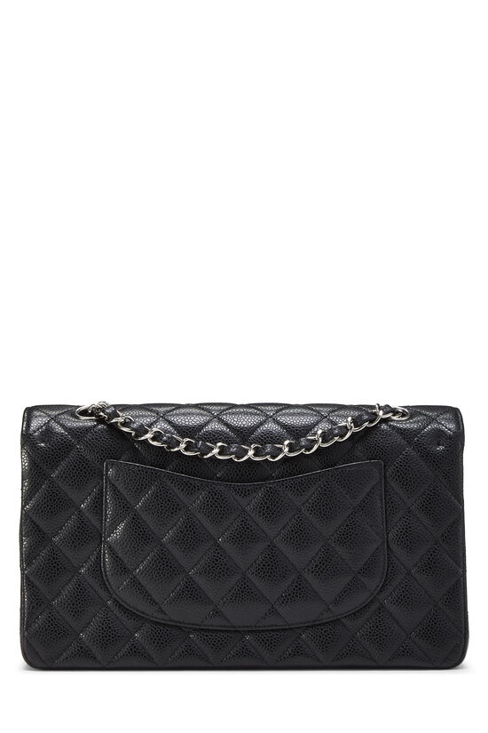 Black Quilted Caviar Classic Double Flap Medium, , large image number 3