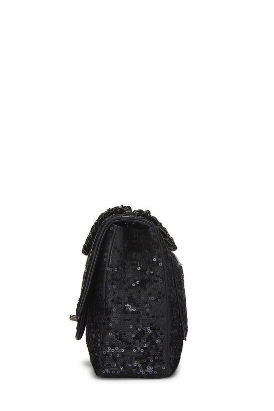 Black Sequin Moonlight on Water Classic Flap Medium, , large image number 2
