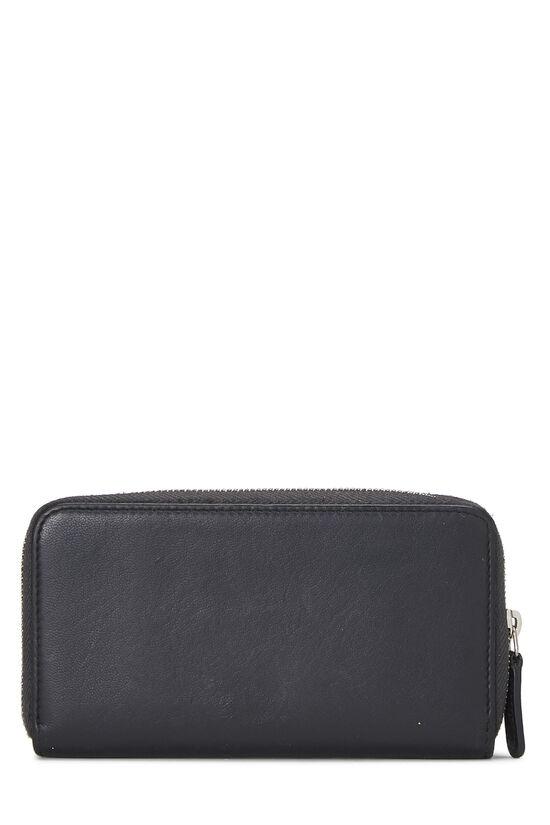 Black Calfskin Stud 'CC' Zip Wallet Small, , large image number 2