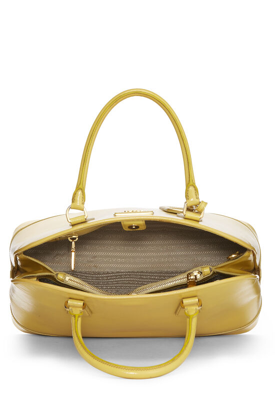 Yellow Vernice Saffiano Dome Tote, , large image number 5