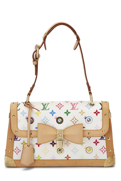Takashi Murakami x Louis Vuitton White Monogram Multicolore Eye Need You Bag
