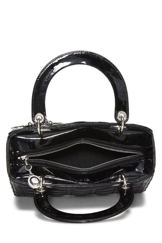 Black Cannage Quilted Patent Leather Lady Dior Medium, , large image number 6