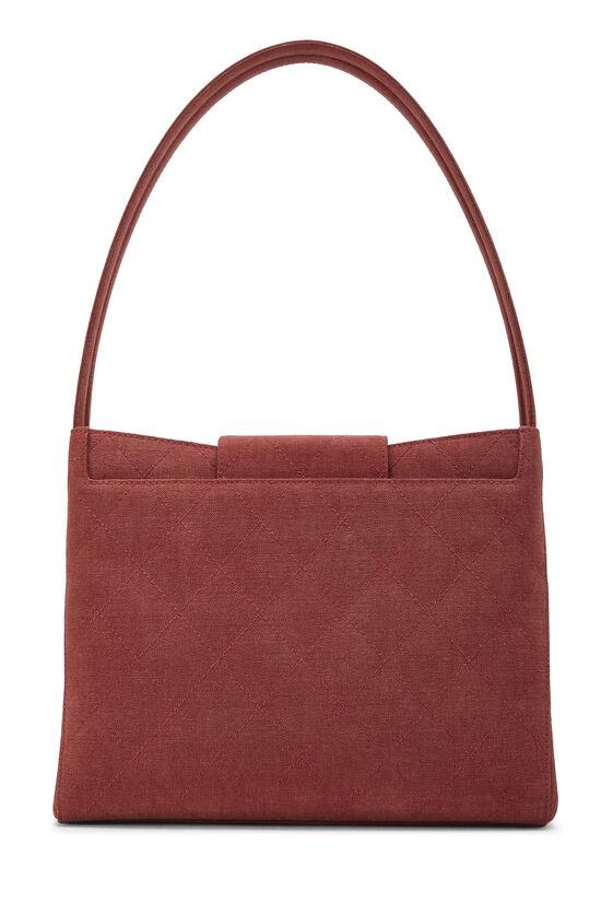 Red Quilted Canvas Shoulder Bag Large, , large image number 3