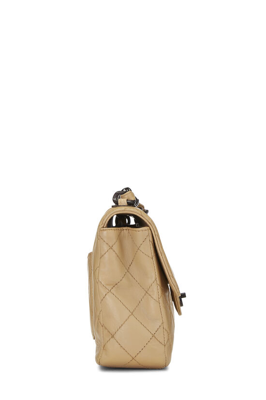 Beige Quilted Lambskin Classic Flap Medium, , large image number 3