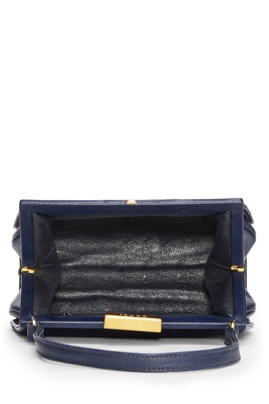 Navy Pony Hair Handbag, , large image number 5