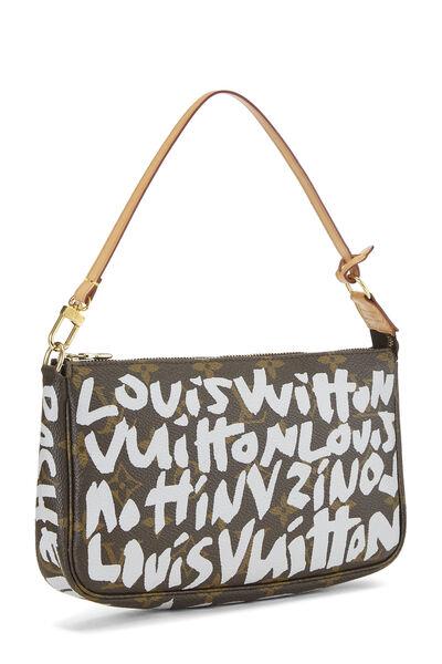 Stephen Sprouse x Louis Vuitton Grey Monogram Graffiti Pochette Accessoires, , large
