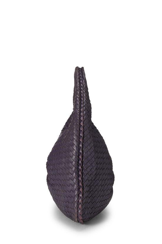 Purple Intrecciato Pleated Veneta Hobo Large, , large image number 2
