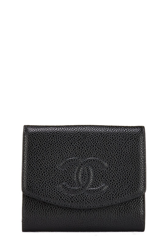 Black Caviar 'CC' Compact Wallet, , large image number 0