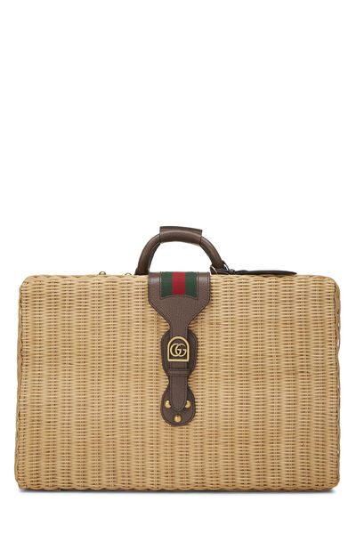 Natural Wicker Web Suitcase