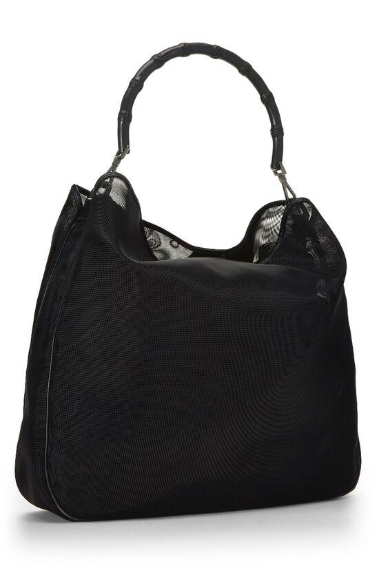 Black Mesh Bamboo Shoulder Bag, , large image number 1