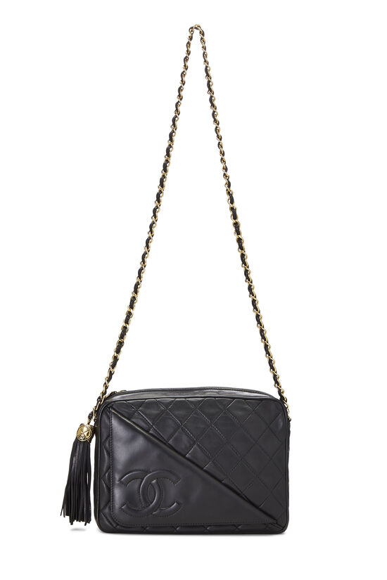 Black Lambskin Pocket Camera Bag Medium, , large image number 1