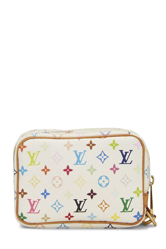 Takashi Murakami x Louis Vuitton White Monogram Multicolore Wapity Case, , large image number 2