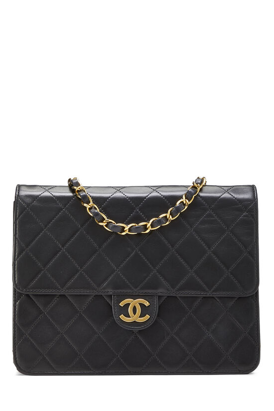 Black Quilted Lambskin Ex Flap Small, , large image number 0