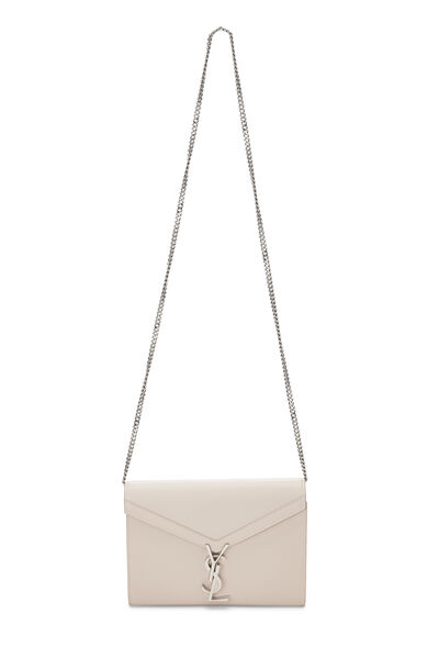 Pink Grainy Leather Cassandra Wallet on Chain, , large