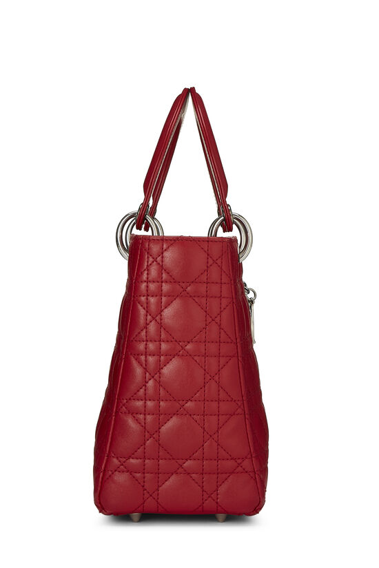 Red Cannage Quilted Lambskin Lady Dior Medium, , large image number 2