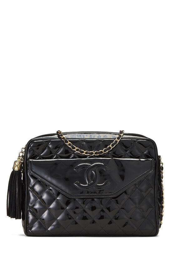 Black Patent Leather Pocket Camera Bag Medium, , large image number 0