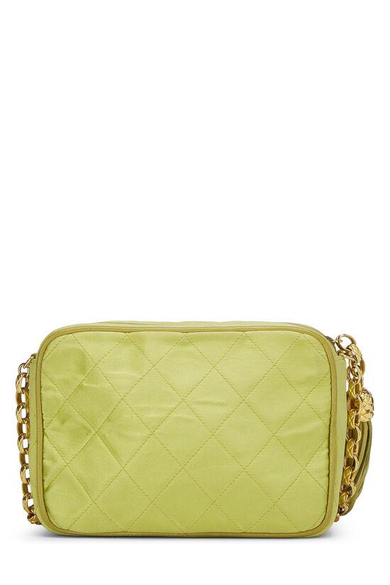 Green Quilted Satin Pocket Camera Bag Mini, , large image number 3