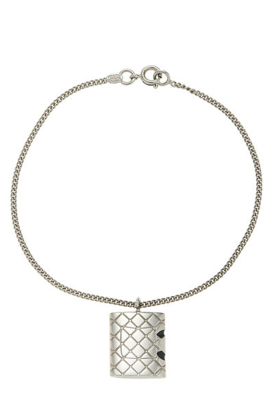 Silver Quilted Cambon Bracelet, , large