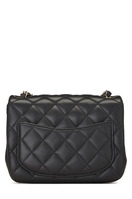 Black Quilted Lambskin Classic Square Flap Mini, , large image number 3