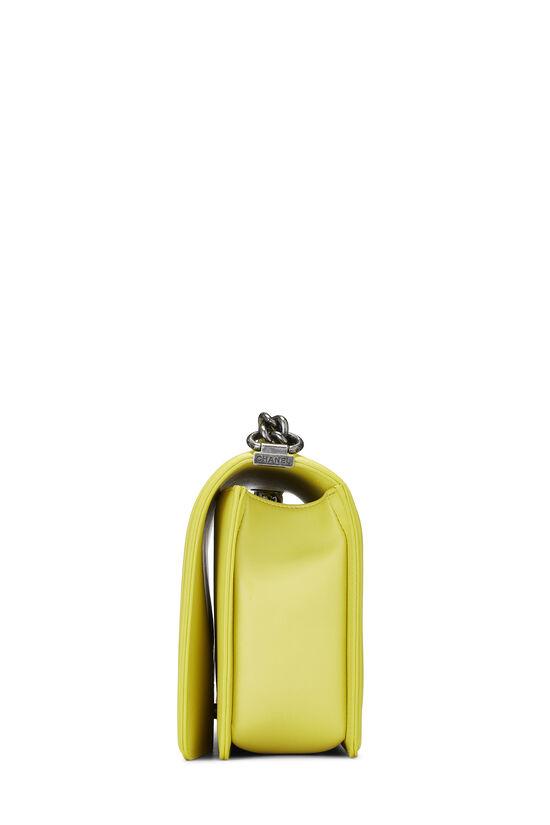 Yellow Chevron Lambskin Boy Bag Medium, , large image number 3