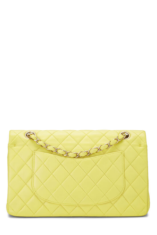 Yellow Quilted Lambskin Classic Double Flap Medium, , large image number 3