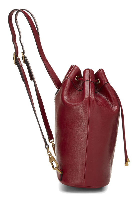 Red Leather (RE)BELLE Convertible Bucket Bag, , large image number 2