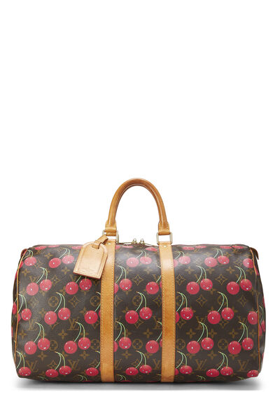 Takashi Murakami x Louis Vuitton Monogram Cherry Keepall 45