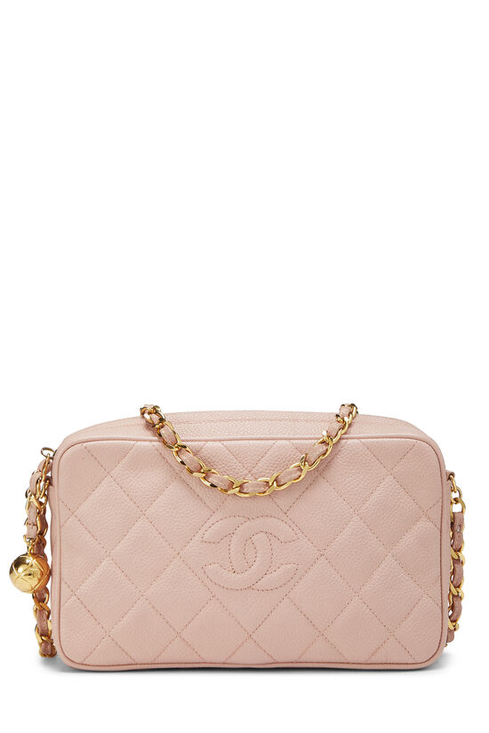Pink Quilted Caviar Diamond Camera Bag Small , , large image number 0