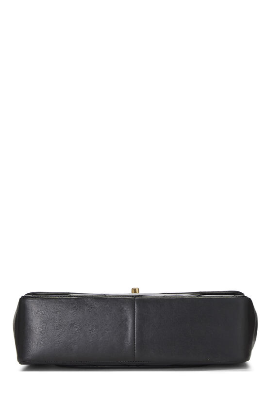 Black Chevron Lambskin Top Handle Bag, , large image number 4